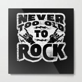 Rock Music Grandpa Metal Print