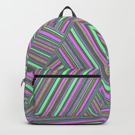 Abstract striped pattern. 5 Backpack