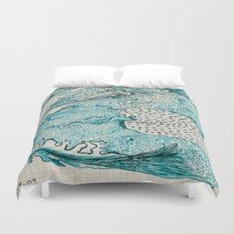 Terre turquoise Duvet Cover