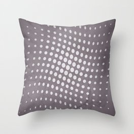 Halftone Flowing Circles in Aubergine Throw Pillow