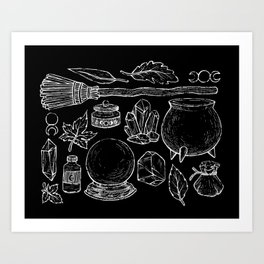 Witchcraft I [Black] Art Print