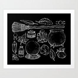 Witchcraft I [B&W] Art Print