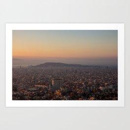 Sunrise Over Barcelona Art Print