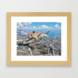 Tahoe Chipmunk Framed Art Print