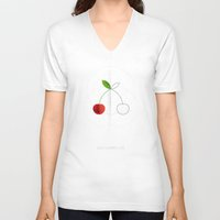 half life V-neck T-shirts featuring HALF (cherry) LIFE by Nillustra™