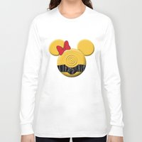 c3po Long Sleeve T-shirts featuring C3PO Mouse  by Miranda Copeland