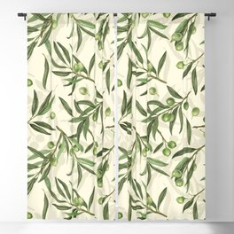 Olive branches watercolor Blackout Curtain