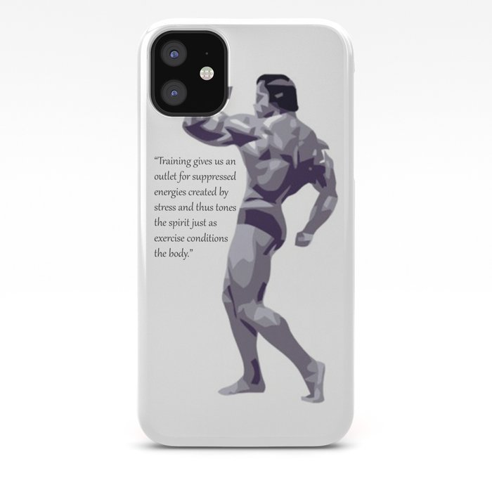 Arnold Schwarzenegger Motivational Quote Iphone Case By Speedjohnson