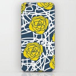 YELLOW ROSE SQUIGGLE iPhone Skin