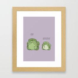 Sauerkraut Recipe Framed Art Print