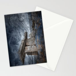 Poulnabrone Dolmen - Blue Winter Grunge Stationery Cards