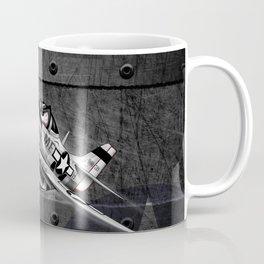 WW-II Warbird P-51 Mustang Airplane Cartoon Coffee Mug