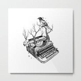 Magpie,  letterhief Metal Print