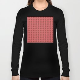 Jeff Goldblum Pattern Red Long Sleeve T-shirt