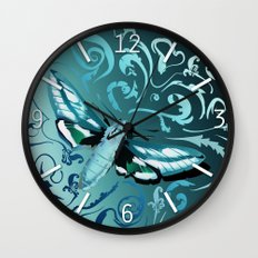 Tangled moth Wall Clock