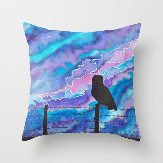 Galaxy Owl Throw Pillow