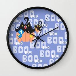 Blue Ribbon Pumpkaboo Wall Clock
