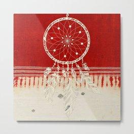 ARETERSTING V50 - Original Red Bohemian Moroccan Artwork Metal Print