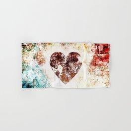 Vintage Heart Abstract Design Hand & Bath Towel