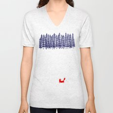 Alone in the forest Unisex V-Neck