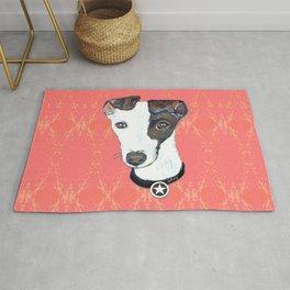 Greyhound Portrait Rug