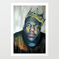notorious Art Prints featuring NOTORIOUS by marikowhitley