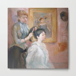 La Coiffure by Berthe Morisot Metal Print