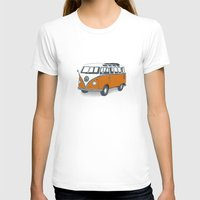 vw T-shirts featuring VW Campervan by Lara Trimming