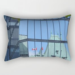 Maple leaf mirror Ottawa Rectangular Pillow