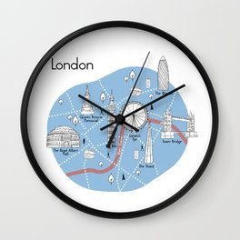 Mapping London - Original Wall Clock