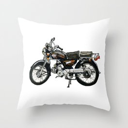 Motorcycle (Red & Black) Throw Pillow