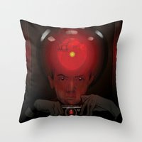 kubrick Throw Pillows featuring Stanley Kubrick by Philipp Banken