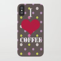 coffe iPhone & iPod Cases featuring I Love Coffe by Brad Josh