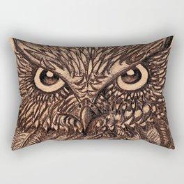 Fierce Brown Owl Rectangular Pillow