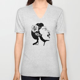 SPECIAL GIFTS OF AN AMERICAN FEMALE BLUES AND JAZZ SINGER FOM MONOFACES IN 2021 Unisex V-Neck