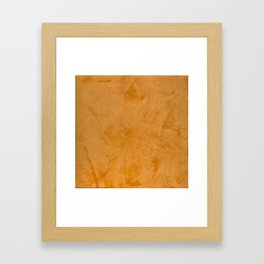 Tuscan Orange Stucco Framed Art Print