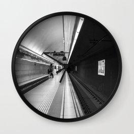 Metro B and W Wall Clock