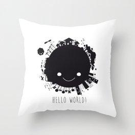 Hello, world! Throw Pillow