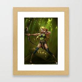 Wood Elf Archer Framed Art Print