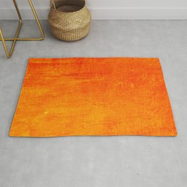 Orange Sunset Textured Acrylic Painting Rug