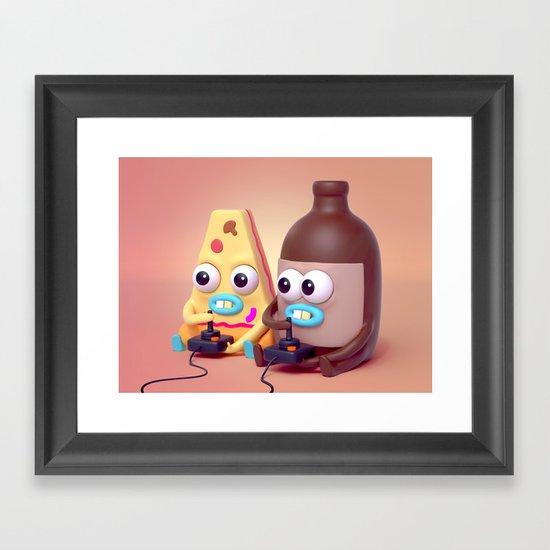 "BFFLs ""Pizza & Beer"" 🍕🍺💕 Framed Art Print"