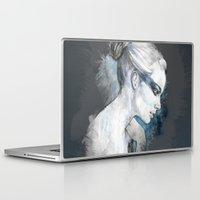 black swan Laptop & iPad Skins featuring Black Swan by Susana Miranda ilustración