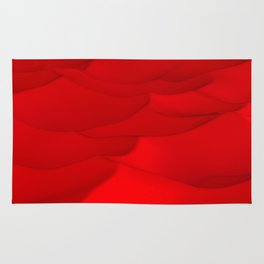 Red wavy surface Rug