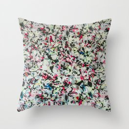Shopping Mall Mural Throw Pillow