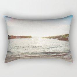 Sunlit Sea Rectangular Pillow