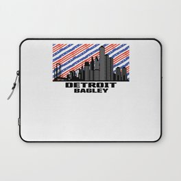 Detroit Bagley Michigan Skyline Laptop Sleeve