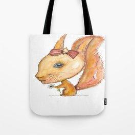 NORDIC ANIMAL - SUZY THE SQUIRREL / ORIGINAL DANISH DESIGN bykazandholly Tote Bag