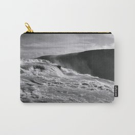 BLACK + WHITE ICELAND WATERFALL : Gullfoss Carry-All Pouch