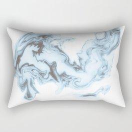 Suminagashi 4 - Floating Glass Rectangular Pillow