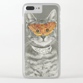 The cat's eyes have it Clear iPhone Case